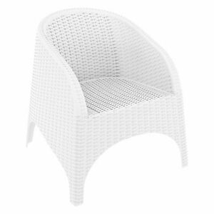 Compamia Aruba Resin Wickerlook Patio Chair in White