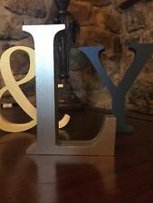 Any 10 Metallic Silver Wooden Letters, Any A-Z, 13cm Large Letters, Numbers