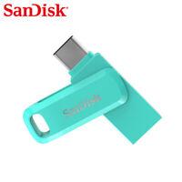 SanDisk 64Go Clé double connectique USB TypeC Dual Drive Go OTG Bleu Tiffany
