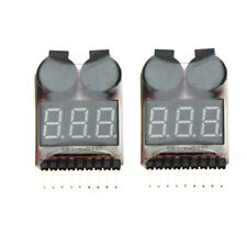 2X 1-8S RC Low Voltage Meter Tester Buzzer Alarm For RC Li-Ion Lipo Battery B2T0