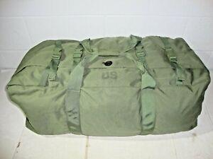 US Military Improved Duffel Travel Flight Sea Bag Green 8465016046541 GC