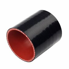 "2.5"" 4-Ply Straight Turbo/Intake/Intercooler Silicone Coupler Hose Black-Red 63"