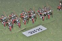25mm medieval / english - longbowmen 12 figs inf - inf (22575)