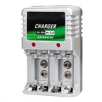 Rechargeable Battery Charger AA AAA 9V Ni-MH Ni-Cd Batteries Wall Charger-