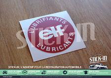 Autocollant Stickers Renault ELF Lubrifiants Bouchon Huile Clio R 5 18 19 21 25
