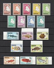 TIMBRE STAMP 17 ILE BARBUDA Y&T#191-207 POISSON CARTE  NEUF**/MNH-MINT 1970 ~B71