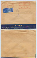 Sweden 1945 Red Meter Stamp Airmail ACMA Advertising Cover to USA