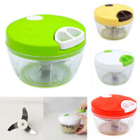 Food Processor Vegetable Cutter Shredder Slicer Salad Maker Manual Chopper New