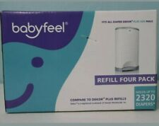 Babyfeel New Fits All Diapers Dekor Refill Four Pack Holds 2320 Diapers, New
