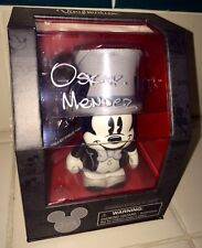 "D23 2013 B&W MICKEY MOUSE 3"" VINYLMATION & PIN SET SIGNED BY ARTIST OSKAR MENDEZ"