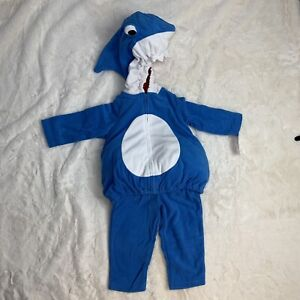 CARTERS baby boys size 18 month BLUE SHARK HALLOWEEN COSTUME plush 2pc NWT