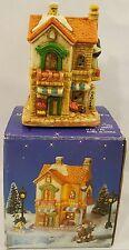 Olde Town Christmas Village Grocery Store Porcelain Bisque Miniature Piece 1993