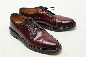 VTG Florsheim Shell Cordovan Mens Dress Shoes 9.5 D Burgundy Plain Toe 93606