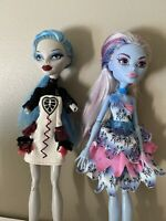 Monster High Doll Dot Dead Gorgeous Abbey, Ghoulia Lot Of 2 Dolls& Clothes