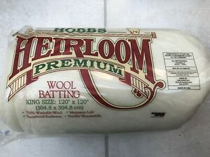 """Hobbs Wool Batting / Wadding for Patchwork Quilts - KING size 120"""" x 120"""""""