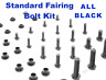 Black Fairing Bolt Kit body screws fasteners Yamaha YZF R6 1999 - 2000 bodywork