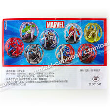 ~ KINDER Joy - Marvel AVENGERS - Surprise Egg Toy - 8 FIGURE set - HONG KONG BPZ