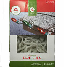 25 Decor Gutter Shingle Clips Christmas Holiday Lights Cable Wire Hanging Hooks