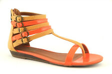 Sandali sandalo infradito in ecopelle XTI arancio-cuoio suola gomma n. 35