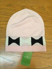 5d7d12f007f KATE SPADE NEW YORK OVERSIZED GEO BOW PRINT WOOL BEANIE HAT NEW  58.00