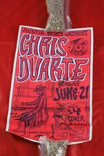 Signed Chris Duarte Concert Poster Fox Theater Boulder Colorado 1993  C1B50