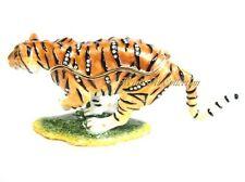 Running Tiger Bejeweled Trinket Box