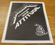 OTTO Backstage Concert Door Sign Metallica TUNING ATTITUDE Wherever We May Roam
