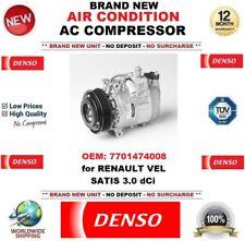 DENSO ARIA CONDIZIONATA COMPRESSORE AC OEM: 7701474008 PER RENAULT VEL SATIS 3.0