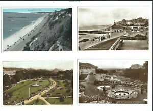 8 Postcard of Bournemouth  Rock Gardens Durley Chine etc  Pier