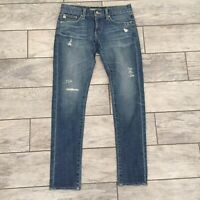 AG Adriano Goldschmied Destroyed The Nikki Relaxed Skinny Jeans SIZE 27 R $228