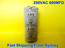 ABS 250VAC 600MFD (600uF) Air Conditioner Appliance Motor Starting Capacitor NEW