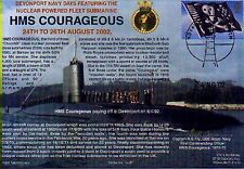 HMS COURAGEOUS NAVY SIGNED 2002 PRESERVED SUBMARINE AT DEVONPORT NAVY DAYS 2002