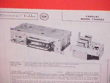 1957 CADILLAC FLEETWOOD ELDORADO BROUGHAM AM RADIO SERVICE SHOP MANUAL BROCHURE