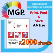 2000 eBay Integrated A4 Post Printing Address Label & Invoice Slip-Self Adhesive