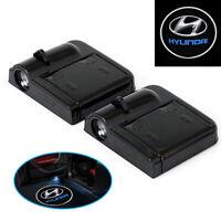 A74C 2 Stück Wireless Auto Tür Licht LED Car Willkommen Projector Logo HYUNDAI