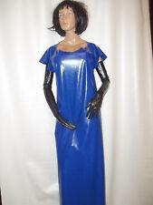 Schulterschürze,Gummischürze,Latexschürze,Gummiumhang,Schürzenkleid,blau,130 cm