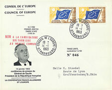 """CE14-IIIaT2 FDC Council of Europe """"DE GAULLE - Franco-German Cooperation"""" 1963"""