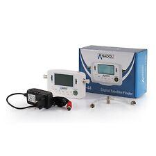 Anadol SF44 Digitaler Satfinder LCD Display Messgerät, Kompass, Signalton Weiss