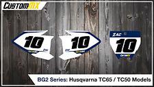 Husqvarna TC 65 50 2017 Printed Race Number Backgrounds MX GRAPHICS TC65 TC50