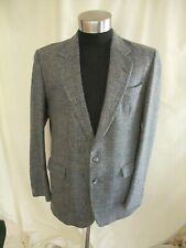 "Mens Blazer grey herringbone pure wool, chest 44"", length 32"", winter 7655"