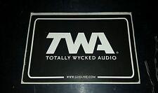 TWA TOTALLY WICKED AUDIO EFFECT PEDAL BUMPER guitar CASE STICKER free USA SHIP
