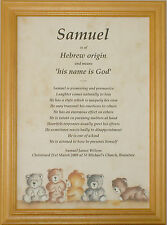 Framed Baby First Name Meaning Christening Baptism Gift