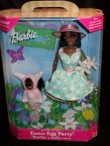 1999 Easter Egg Party Barbie Doll & Kelly Gift Set African American #25791 NRFB