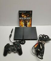 Sony PlayStation 2 PS2 Slim Black Console Bundle with Metal Gear Solid 3