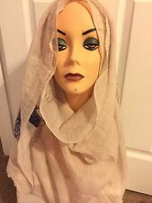 Long Beige Scarf Hijab Wrap very pretty design and fashionable