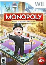 MONOPOLY rare Nintendo Wii Family Board game Complete vg