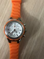 MICHELE Tahitian Jelly Beans Large  30mm Women's Watch Orange Rubber
