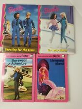 Adventures with Barbie & Barbie Book Club Paperback and Hardcover Books Lot of 4