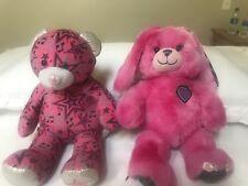 "16"" Build a Bear Lot Rock 'n Roll Bear Stars w/Speaker  MP3 IPod Hot Pink Bunny"