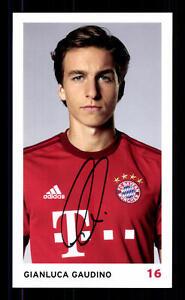Gianluca Gaudino Autogrammkarte Bayern München 2015-16 Original Signiert
